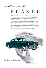 1951 Kaiser-Frazer 4 Door Sedan USA Original Magazine Advertisement (Darren Marlow) Tags: 1 5 9 19 51 1951 k kaiser f frazer s sedan c car cool collectible collectors classic automobile v vehicle a u us usa united states america american 50s