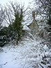 transformations (DigitalLyte) Tags: snow storm blizzard winter march thatch cottage publicfootpath coast notblackandwhite trees path cold dorset uk england britain