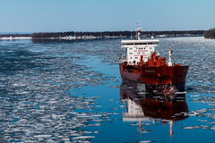 Happy Vernal Equinox Day (langdon10) Tags: canada canon70d quebec ship shoreline spring stlawrenceriver cold outdoors