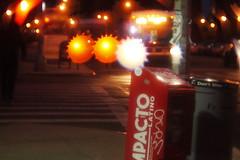 The busy bus station (Full open @ f1.5) (Xu@EVIL Cameras) Tags: wollensak cine velostigmat 2in 50mm f15 machine version lens night traffic lightning car streetshooting bokeh