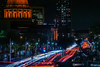 let's completely cripple the city's main traffic artery and see what happens (pbo31) Tags: bayarea california color nikon d810 march spring boury pbo31 sanfrancisco city urban night dark black lightstream motion traffic roadway cathedralhill vannessavenue cityhall civiccenter sfmta orange over mess