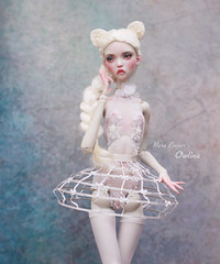 Owlina <3 (pure_embers) Tags: pure laura embers bjd doll dolls england uk girl popovysisters popovy sisters littleowl little owl pureembers owlina embersowlina photography photo ball joint resin portrait fine art white kitty wig cage skirt