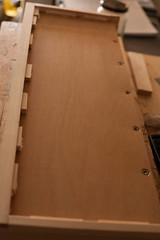 drawer plywood bottom (btyreman) Tags: drawer wood woodwork woodworking pine plywood ply drawerconstruction workbenchdrawers storage dovetails joinery handtools exteriorgradeplywood irokoveneer 5mm plough groove rubjointing woodresonance dampening