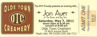 5.7.2011 - Jon Auer @ Olde Town Creamery, Maple Lake