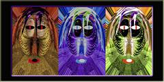 Ancestros (seguicollar) Tags: imagencreativa photomanipulación art arte artecreativo artedigital virginiaseguí cesta caras faces tríptico ojos bocas cestas transfromación reto color coloridogreen morado marrón verde planta