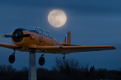 Fly me to the Moon! (NicoleW0000) Tags: airplane plane moon bluemoon compositephotography photoshop ontario canada
