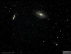 Messier 81, Messier 82 and NGC 3077 Wide-Field View (LeisurelyScientist.com) Tags: tomwildoner night sky deepsky space outerspace skywatcher telescope 120ed celestron cgemdx asi190mc zwo astronomy astronomer science canon canon6d deepspace guided weatherly pennsylvania observatory darksideobservatory stars star leisurelyscientist leisurelyscientistcom tdsobservatory backyardeos m81 m82 galaxy ngc3077 ursamajor bigdipper february 2018 astrometrydotnet:id=nova2496271 astrometrydotnet:status=solved