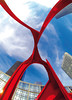 Artères (ANOZER Photograffist) Tags: paris france ladefense puteaux courbevoie sculpture art calder alexandercalder metal arteres red rouge coeur graphic photography photo anozer anozercreation perspective structure design modern