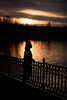 Silence (cosovan vadim) Tags: silhouette silence sunset water reflections lake lady nikon d750 nikkor 85mmf18 f18g