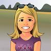 Águeda (Cesar Crash) Tags: mulher woman blonde picture cartoon caricatura charicature glasses inkscape vector vetor