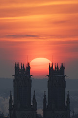Equinoxe de printemps 2018 (Wan OA) Tags: equinoxe soleil sun d500 200500mm eglise church ciel ville sunrise lever