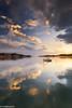 Reflection of my thought (IrreBerenTe Natalia Aguado) Tags: boat fishingboat reflections reflects cloudscape clouds sky sanvicentedelabarquera cantabria landscape mirror sunrise nataliaaguadoirreberente sea water