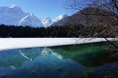 Fusine Lake-Winter (Stefano Silvestri) Tags: winter landscape italy tarvisiano friuliveneziagiulia snow sonynex6 sel1650 sony lake water mountain flickrtravelaward