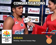 Kiran wins bronze at gold coast cwg 2018 (Cloudy4u) Tags: 2018 bronzemedal commonwealthgames goldcoast india kiran womensfreestyle wrestling