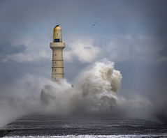 The Wave (Brian D 1960) Tags: white clouds blue nikon aberdeen sea sky storm lighthouse wave sundaylights