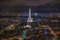 View of lights (karinavera) Tags: city longexposure night photography cityscape urban ilcea7m2 tower eiffel aerial tour paris view