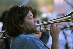 French Quarter Fest 2018 - Original Pinettes Brass Band - Dionne Harrison