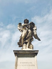 Angel with the Crown of Thorns (Strunkin) Tags: rome italy history statue bridge ponte santangelo angel bernini