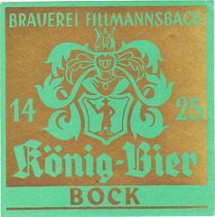 Austria - Brauerei König - Brauerei Fillmannsbach (St. Georgen am Fillmannsbach) (cigpack.at) Tags: brauerei könig fillmannsbach königbier bock austria österreich stgeorgen amfillmannsbach bier beer brewery label etikett bierflasche bieretikett flaschenetikett