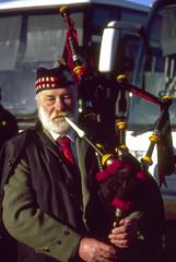 Piper (xrichx) Tags: demo war iraq demonstration piper bagpipes 15022003