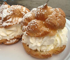 Cream Puffs (.michael.newman.) Tags: food wisconsin dessert statefair cream puff fair whippedcream pastry treat creampuff paperplate powderedsugar