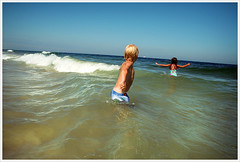 Wilson in the surf (Mr. Biggs) Tags: ocean summer sun beach water newjersey sand nj atlantic lbi longbeachisland shore jerseyshore biggs islandbeachstatepark