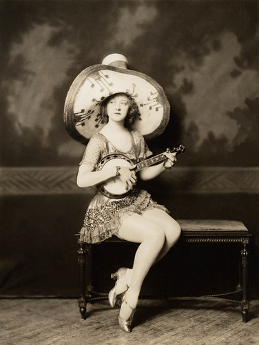 Ada May, with banjo.