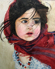 watercolor portrait (my paintings) Tags: portrait art watercolor painting iran persia ssstudio aliehs