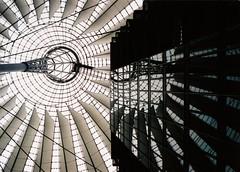 Sony Center I (paulwb) Tags: berlin travelling film architecture 35mm geotagged nikon potsdamerplatz sonycenter tamron f50 nikonf50 geo:lon=13373365 tamron28200 kleinbild geo:lat=52510214