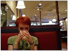 3 years (macwagen) Tags: nyc newyorkcity newyork coffee jen honeymoon anniversary 5thavenue wife 3years andrewsdiner