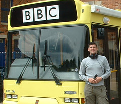 On the Buses! (Paul Hurst) Tags: broadcast radio manchester outside media bbc producer presenter