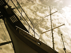 onfekomonadi (*helmen) Tags: cameraphone old trip travel summer vacation sky holiday sepia clouds sailboat phonecam camphone boat europe k750i outdoor sonyericsson awesome cellphone croatia mobil nobody nopeople groundlevel mast lowdown sesion dalmatia