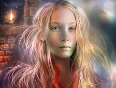 The Whispering - For Kathy (Gale Franey) Tags: portrait girl photoshop graphicdesign digitalart fantasy kathy computerart daydream computergraphics phantasy galefraney abigfave galefra