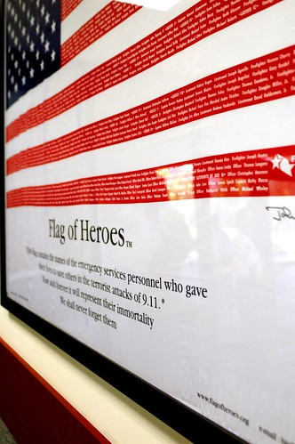 Sept 11 Memorial - Flag of Heroes
