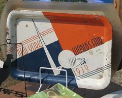 Souvenir (Usonian) Tags: newyork massachusetts 2006 souvenir antiques fleamarket 1939 worldsfair brimfield