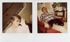 Silly & Nappy (elston) Tags: sleeping mobile cat mom polaroid chair funny pop napping dieter catchingflies roidweek06
