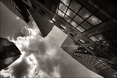 impart (davemacintosh) Tags: nyc blackandwhite streetphotography touchthesky