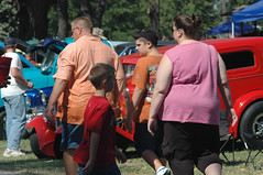 (xcalakattack) Tags: fat folks carshow obese physique