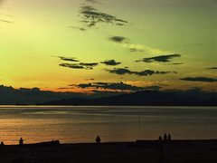 looking for answer (negzz) Tags: sunset vancouver skyscape peace bc englishbay darkclouds contemplation negarjazbi