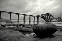 Rock Solid (m4r00n3d) Tags: edinburgh southqueensferry scotland nikon nikkor nikond50 lothian forth forthbridges forthrailbridge topf25 moo