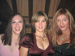 Annabell, Tracy and Karol (Jo Angel) Tags: pink friends transgender tranny milton keynes angelic pp punters clubangelic