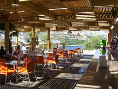Green Beach Bar (carteisus) Tags: light summer green beach bar cafe 2006 resort bodrum greenbeach gndoan gundogan