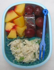 Chicken salad lunch for toddler (Biggie*) Tags: food chicken cheese children lunch kid toddler child box grapes bento nectarines packedlunch boxlunch bentobox  schoollunch chickensalad biggie  brownbag lunchinabox    sacklunch   boxedlunch bentoblog brownbaglunch         ssbiggie lunchinaboxnet twittermoms