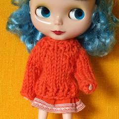 Lollipop (Helena / Funny Bunny) Tags: doll blythe olds sbl candycarnival funnybunny solidbackground chunkysweater fbfashion