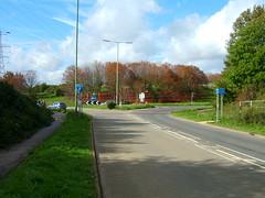Autumn colours at the roundabout, part 1 (David Cowie) Tags: uk england sky roundabout junction stevenage e550 hertfordshire a1m