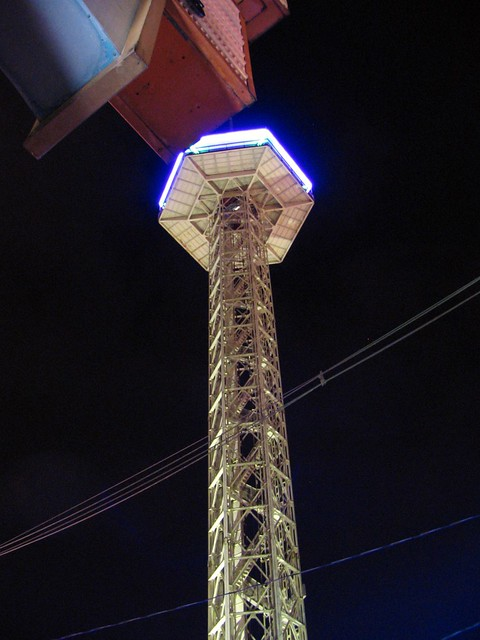 Gatlinburg Space Needle at Night