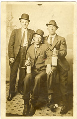 Hombres Problematicos Numero Catorce (mrwaterslide) Tags: old drunk vintage antique postcard whiskey guys oldphoto vernacular soused rppc realphoto realphotopostcard