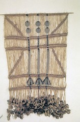 212 Greenwood... Macrame with stoneware bells (jungle mama) Tags: bells beads macrame stoneware 212greenwood jutesusanfordcollins