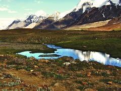 Near Karomber Pass (Kaafoor) Tags: trip travel blue pakistan summer lake beauty north visit best valley pakistani adeel distortions iloveit northernarea karambar theworldsbest greaan pakistaniphotographer karombar karomber karachite ilovetraveling ihavebeentothisplace height4272m approxlength39km width2km averagedepth52m latituden36deg530326 longitudee73deg424403 korambar karambarlake
