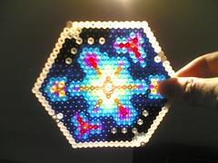 Coaster glory (toxi) Tags: light colour kids beads craft coaster